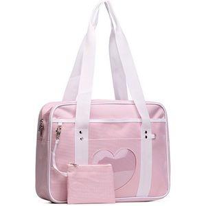 Handbags - pink ita heart shoulder bag